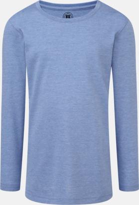 Blue Marl (flicka) Färgstarka långärms t-shirts i herr-, dam och barnmodell