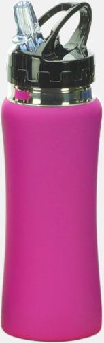 Rosa Vattenflaskor i många färger - med reklamtryck