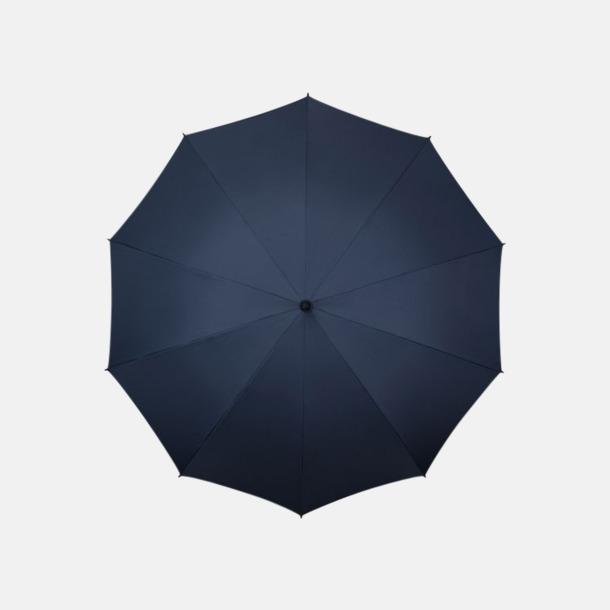 Marinblå (PMS 296C) Stora golfparaplyer med eget reklamtryck