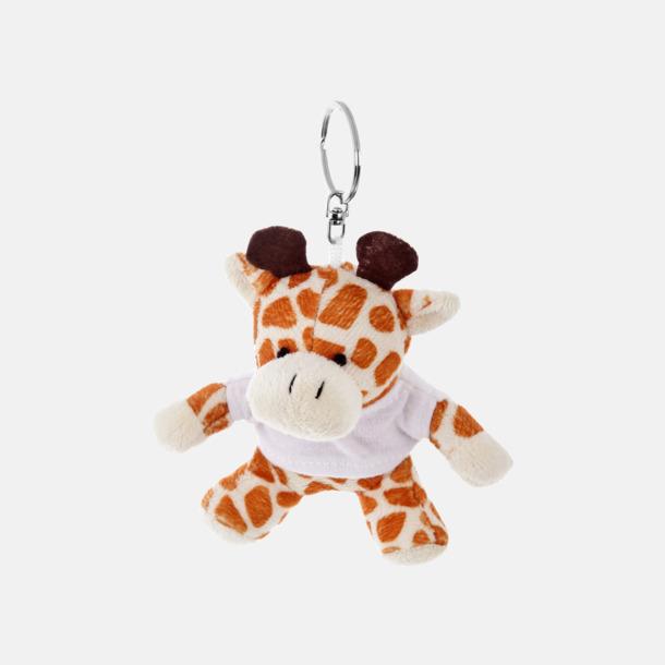 Giraff Nyckelringsmaskotar med reklamtryck