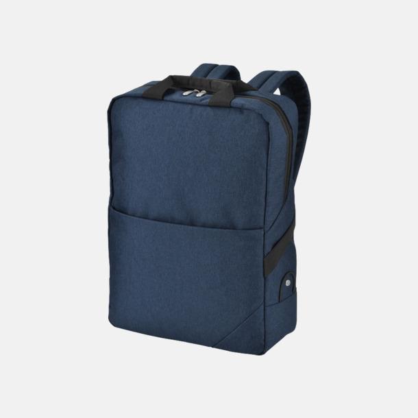"""Marinblå / Svart 15,6"""" datorryggsäck med reklamlogga"""