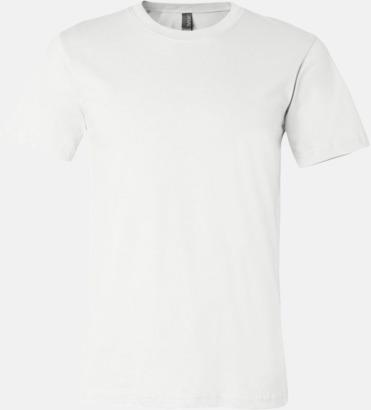 Vit T-shirts för herr och dam - med reklamtryck
