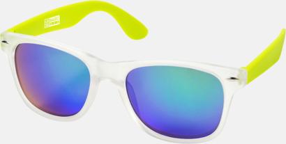 Limegrön Snygga och säkra solglasögon med färgade linser - med reklamtryck