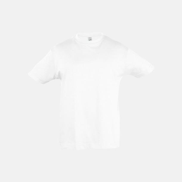 Vit Billig barn t-shirts i rmånga färger med reklamtryck