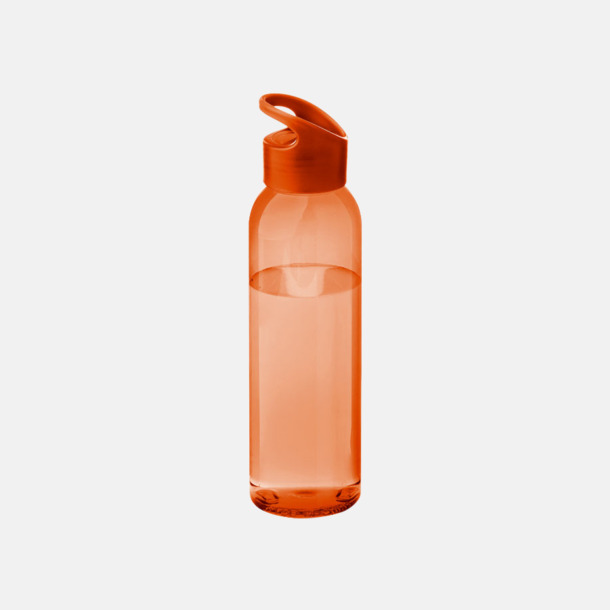 Orange/Transparent Orange Bärvänliga vattenflaskor i tritan med reklamtryck