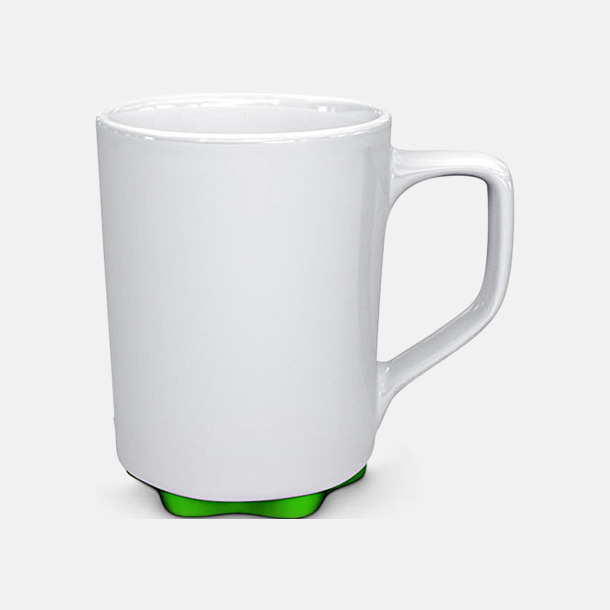 Vit/Grön Stengodskoppar i modern design