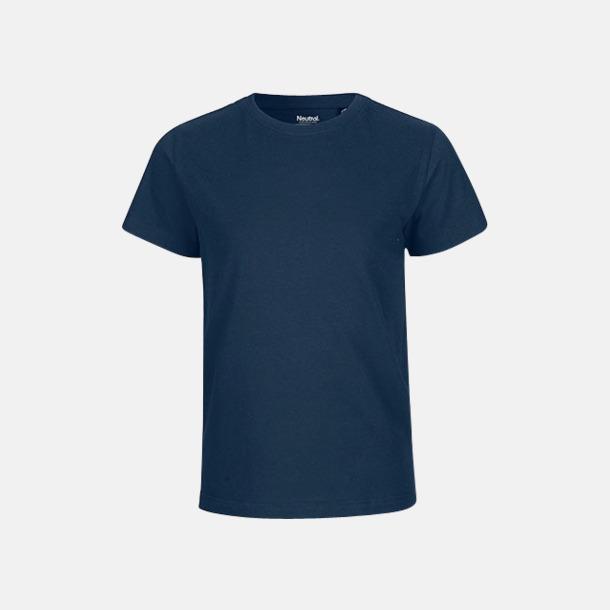 Marinblå (PMS 533 C) Ekologiska t-shirts för barn av ekologisk bomull - med tryck