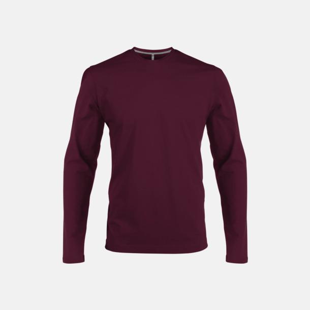 Wine (crewneck, herr) Långärmad t-tröja med rundhals för herr och dam med reklamtryck