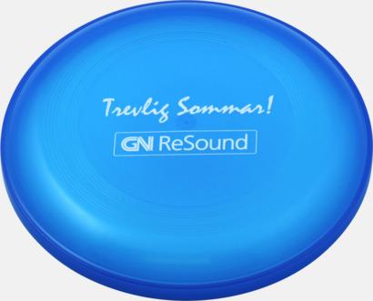 Transparent Blå Frisbees med reklamtryck