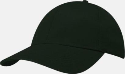 Mörkgrön miljövänliga kepsar med reklambrodyr