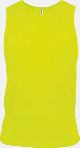 Fluorescerande Gul Lagvästar i många fluorescerande färger med reklamtryck