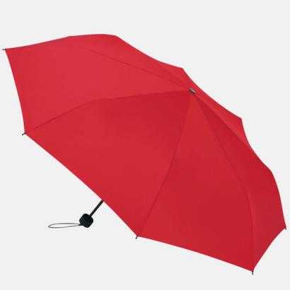 Röd Kompakta paraplyer med eget tryck
