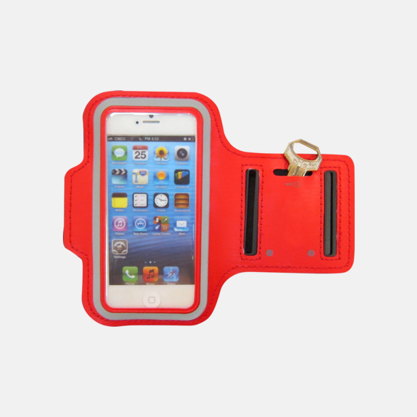 Röd Joggingarmband med reflexer - med reklamtryck