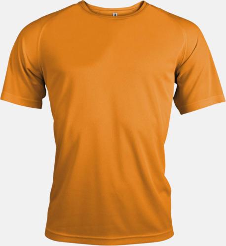 Orange Sport t-shirts i många färger för herrar - med reklamtryck