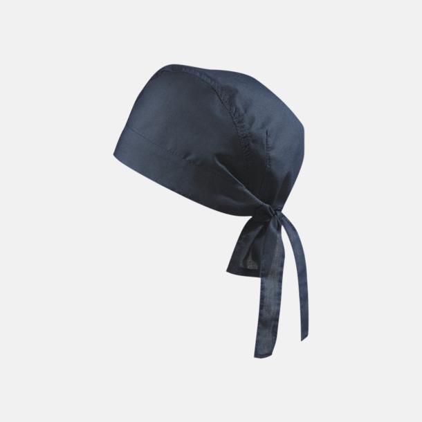 Marinblå (hatt) Bandanas i två varianter med reklambrodyr