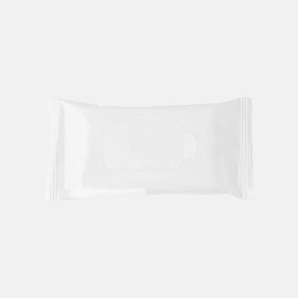 Vit Box med 10 pre-fuktade näsdukar - med reklamtryck