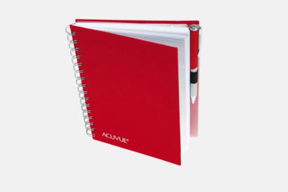 Röd Väv Anteckningsbok -  Lyxigare anteckningsbok med präglingstryck