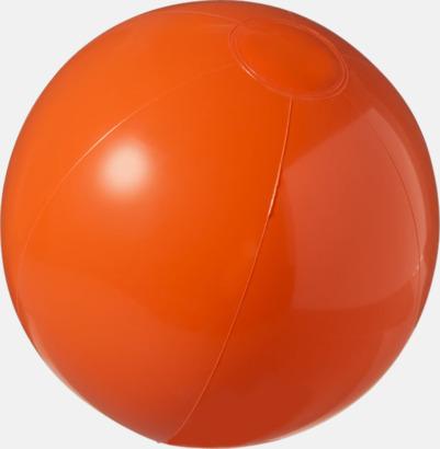 Orange (solid) Badbollar i solida och transparenta färger med reklamtryck