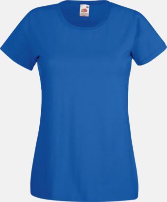 Royal Blue Figursydd damt-shirt med reklamtryck
