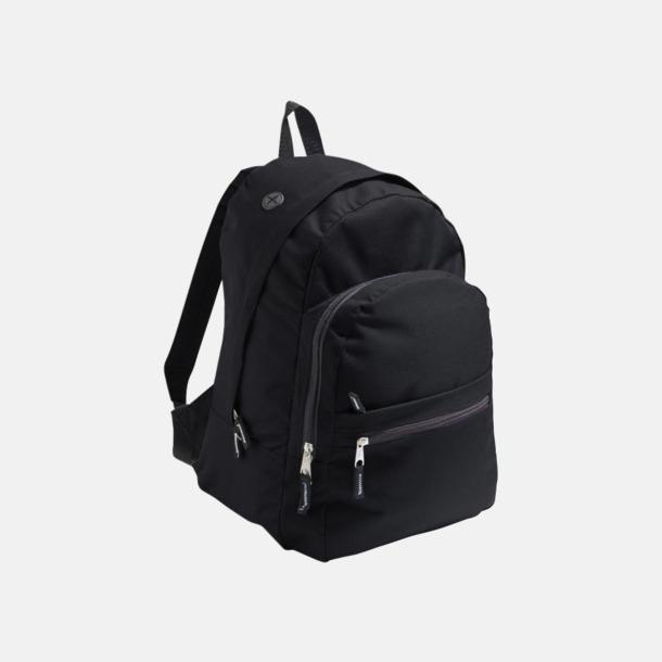 Svart Musikvänliga ryggsäckar med tryck eller brodyr