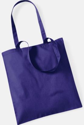 Purple Tygkasse med tryck