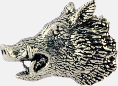 Vildsvinshuvud Engelska, handgjorda broscher med jaktmotiv