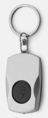 Silver / Svart Nyckelring med LED-lampa
