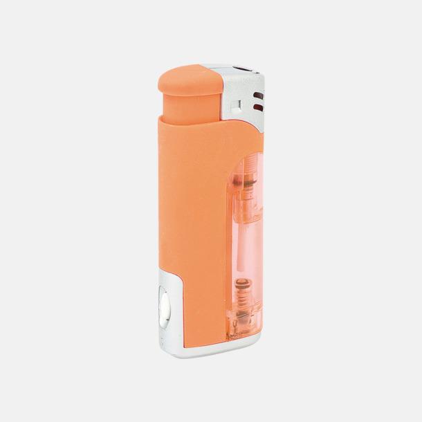 Orange Tändare och ficklampa i 1 - med reklamtryck