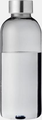 Transparent svart/Silver Stilrena vattenflaskor med reklamtryck