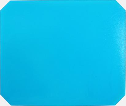 Blå (transparent) Isskrapor med reklamtryck