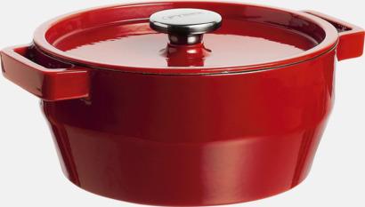 Röd 6,3 liters gjutjärnsgryta från Pyrex