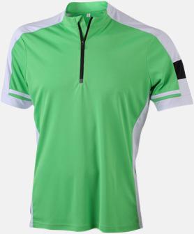 Grön (herr) Herr- och dam cykeltröjor med reklamtryck