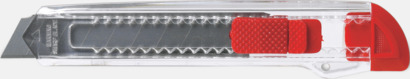 Röd / Transparent Billiga brytbladskniv med reklamtryck