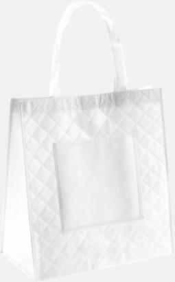 Vit Väska i laminerad non-woven med reklamtryck