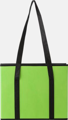 Baksida (limegrön) Vikbara bilväskor med reklamtryck