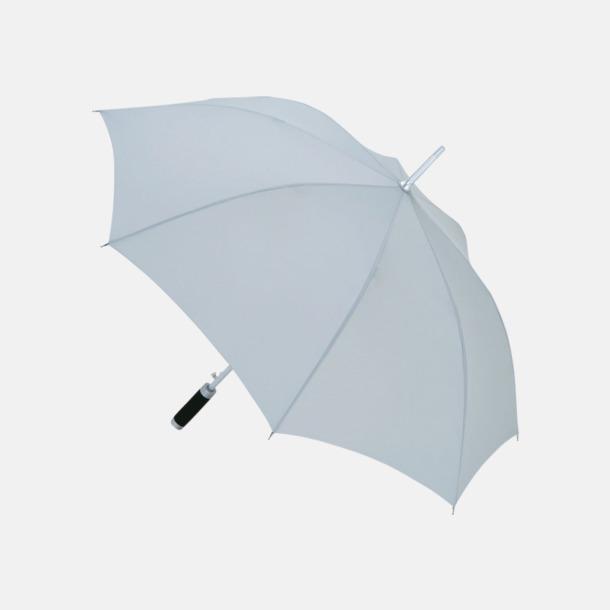 Ljusgrå Paraplyer med reklamtryck