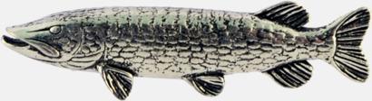 Gädda Engelska, handgjorda broscher med jaktmotiv