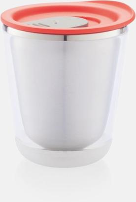 Röd/Grå Isolerade kaffemuggar med lock - med reklamtryck