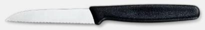 Svart (8 cm, vågtandad) Professionella skalknivar