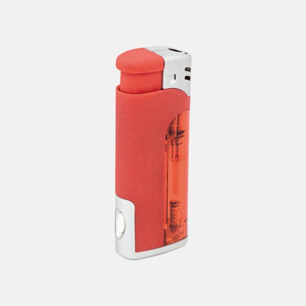 Röd Tändare och ficklampa i 1 - med reklamtryck