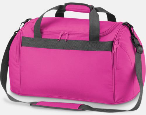 Fuchsia Väskor med reklamtryck