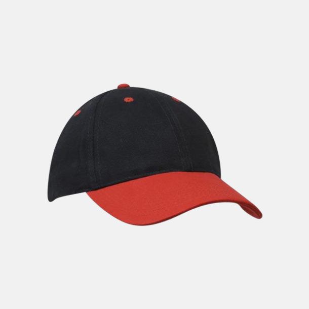 Marinblå / Röd klassiska basebollkepsar med reklambrodyr