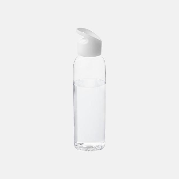 Vit/Transparent klar Bärvänliga vattenflaskor i tritan med reklamtryck