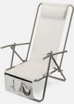 Vit (de luxe) Lyxig brassestol med kudde och väska med eget reklamtryck