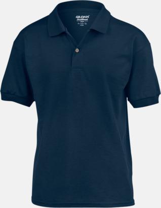 Marinblå Billiga barnpikétröjor med tryck eller brodyr