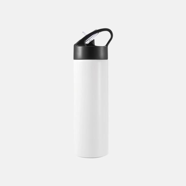 Vit Vattenflaskor av stål med eget tryck