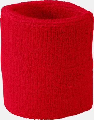 Röd Armsvettband med brodyr