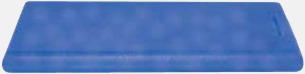 Blå (transparent) Askkort med sockerfritt mintgodis - med reklamtryck