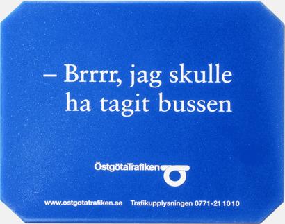 Blå (solid) Isskrapor med reklamtryck