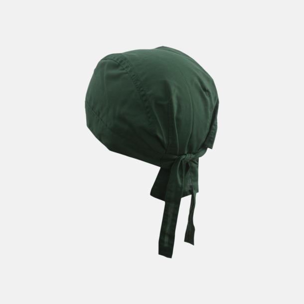 Mörkgrön (hatt) Bandanas i två varianter med reklambrodyr